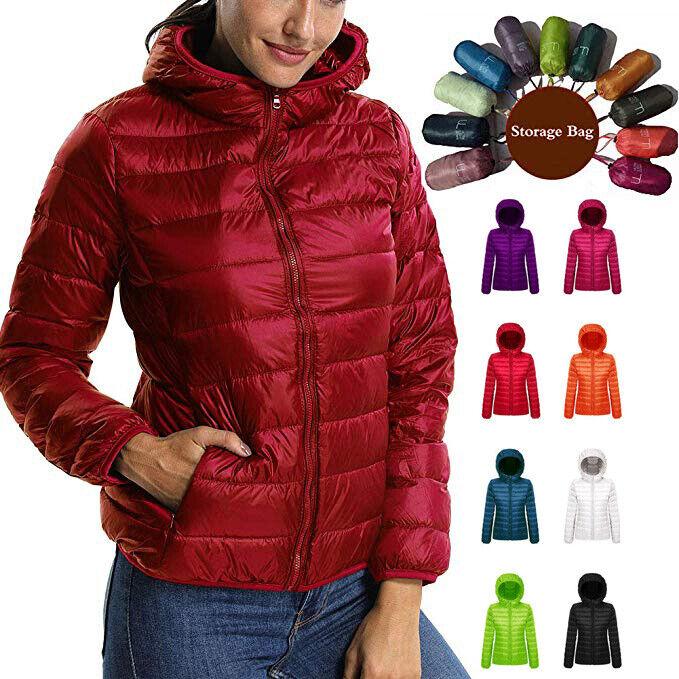 Factory Sale!Women/'s Ultralight Hooded Down Jacket Puffer Parka