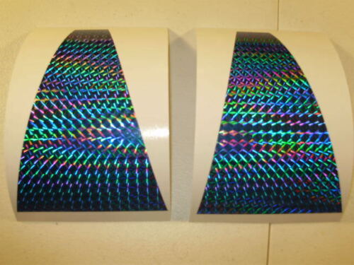 """SHORTBUS 6/"""" TRIANGLE FLASHER Die Cut 2 PK  PRISM HOLO FISHING LURE TAPE 9 Colors"""