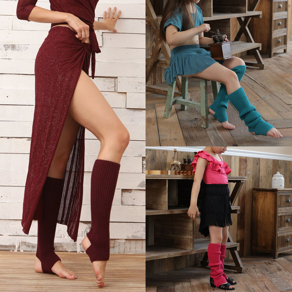 1 Paar Frauen gestrickte Beinstulpen Socken Kniehohe Steigbügel Yoga Tanz Socke