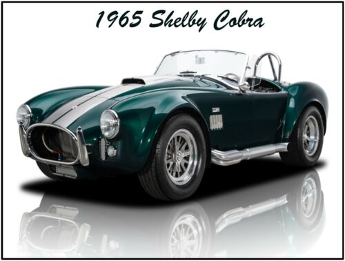 1965 Shelby Cobra in Green Metal Sign Fully Restored