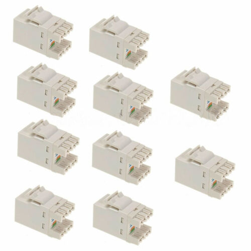 10pcs Cat 6 RJ45 Punchdown Keystone Modular Ethernet Snap-in Jack Networ   CYN