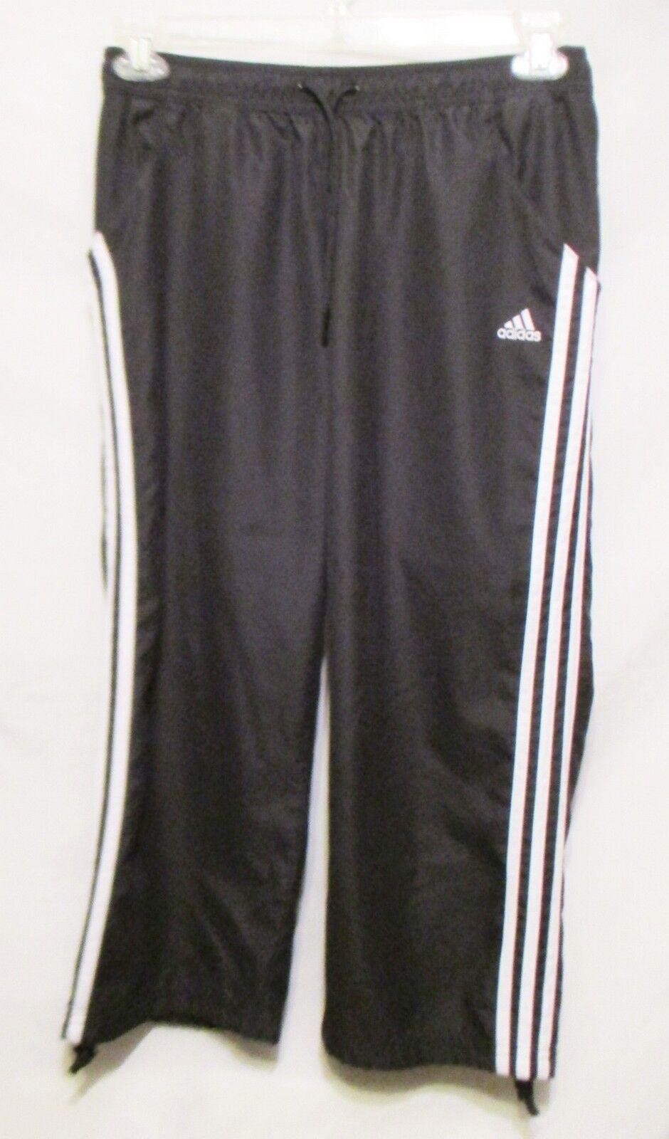 ADIDAS Pantalon de survêtement sportif pour femme, taille moyenne, noir / blanc - Tennis