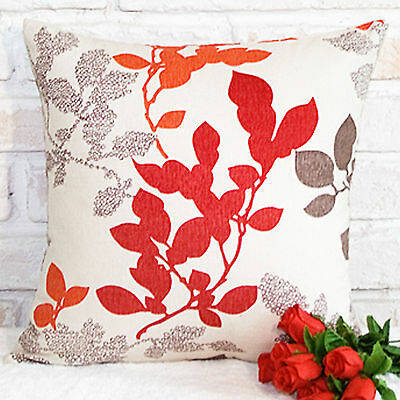Brand New Red Leaves Style Cotton Deco Cushion Cover / Pillow case
