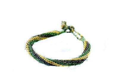 Bracelet en fil tresse rasta jamaicain bresilien artisanat fait main  19