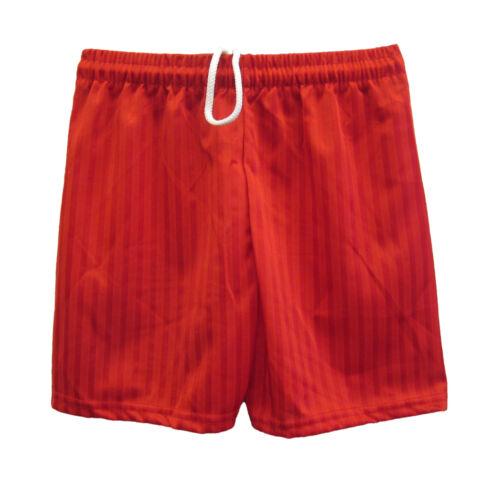 Boys Girls Kids Childrens School Sports Shadow Stripe PE Shorts 7//8 to 12 years