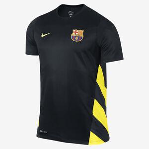 NIKE FC BARCELONA SQUAD CHAMPIONS LEAGUE TRAINING TOP FOOTBALL BLACK ... ee61f0120