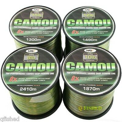 CAMO / CAMOU MONO LINE BULK SPOOLS 8LB 10LB 12LB 15LB STRAINS CARP PIKE FISHING