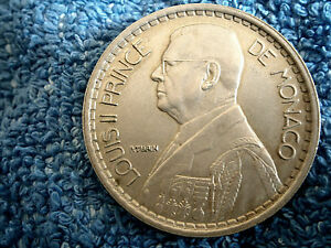 MONACO: SCARCE LARGE 20 FRANCS 1947 ABOUT UNCIRCIRCULATED TO UNCIRCULATED