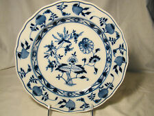 "Antique Staffordshire Meissen Blue Onion Hand Finished Plates 9 1//4/"" dia"