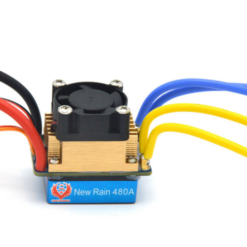 Cooling Electric Speed Controller ESC 480A 80A BEC fr 550 775 Motor RC Car Boat