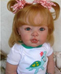Reborn-Doll-Toddler-Kits-Clothes-Body-Silicone-Vinyl-Head-Full-Limbs-Eyes