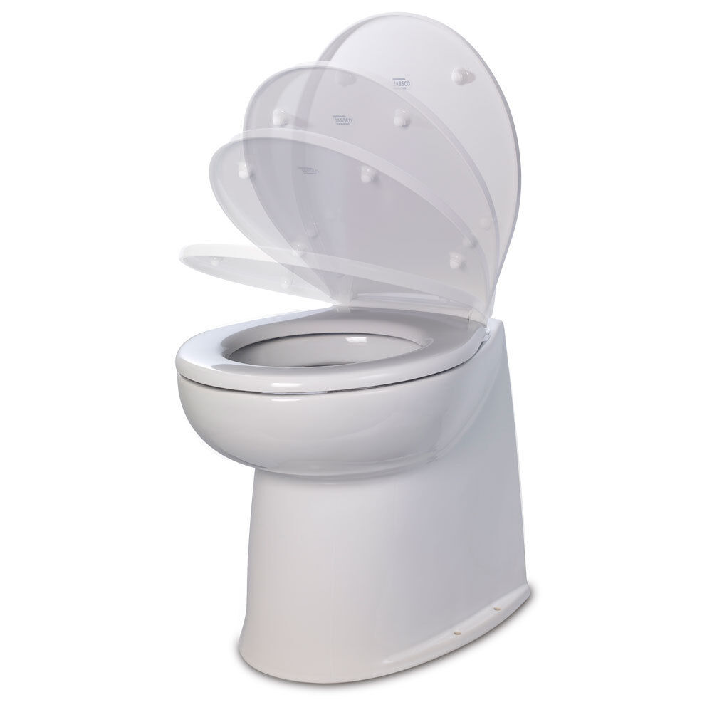 Jabsco 17 Deluxe Flush Raw Water Electric Toilet wSoft Close Lid  12V