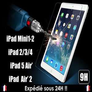 VITRE-FILM-PROTECTION-INCASSABLE-ECRAN-EN-VERRE-TREMPE-IPAD-2-3-4-MINI-iPAD-AIR