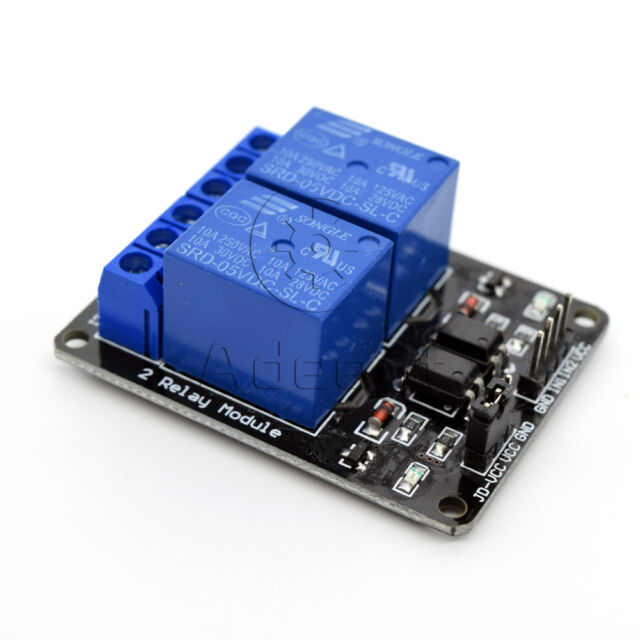 5V 2 Channel Relay Board Module for Raspberry Pi ARM AVR DSP PIC Sale