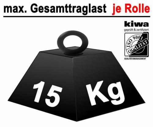Möbelrollen Tischrollen Lenkrollen 8 x Ø 25mm Polyamid Schwarz ISO-9001 Germany