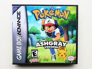 Pokemon-Ash-Gray-Custom-Game-Case-Nintendo-Gameboy-Advance-GBA-Grey-Anime-USA