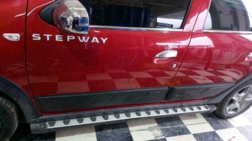 2013-19 Dacia Sandero Stepway ABS Reforzado Tiras Puerta Protectores Lateral