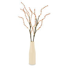 Modern Battery Operated LED Ceramic Vase Flower Lamp Floor Light Red Beads Home