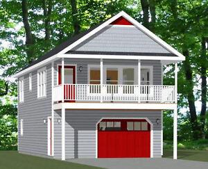 20x40 House -- 2 Bedroom 1.5 Bath -- 1,053 sq ft -- PDF Floor Plan -- Model 6A