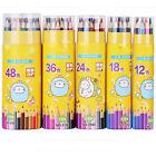 12/18/24/36/48 Colors Raffine Art Drawing Pencil Oil Base Non-Toxic Sketch Set C