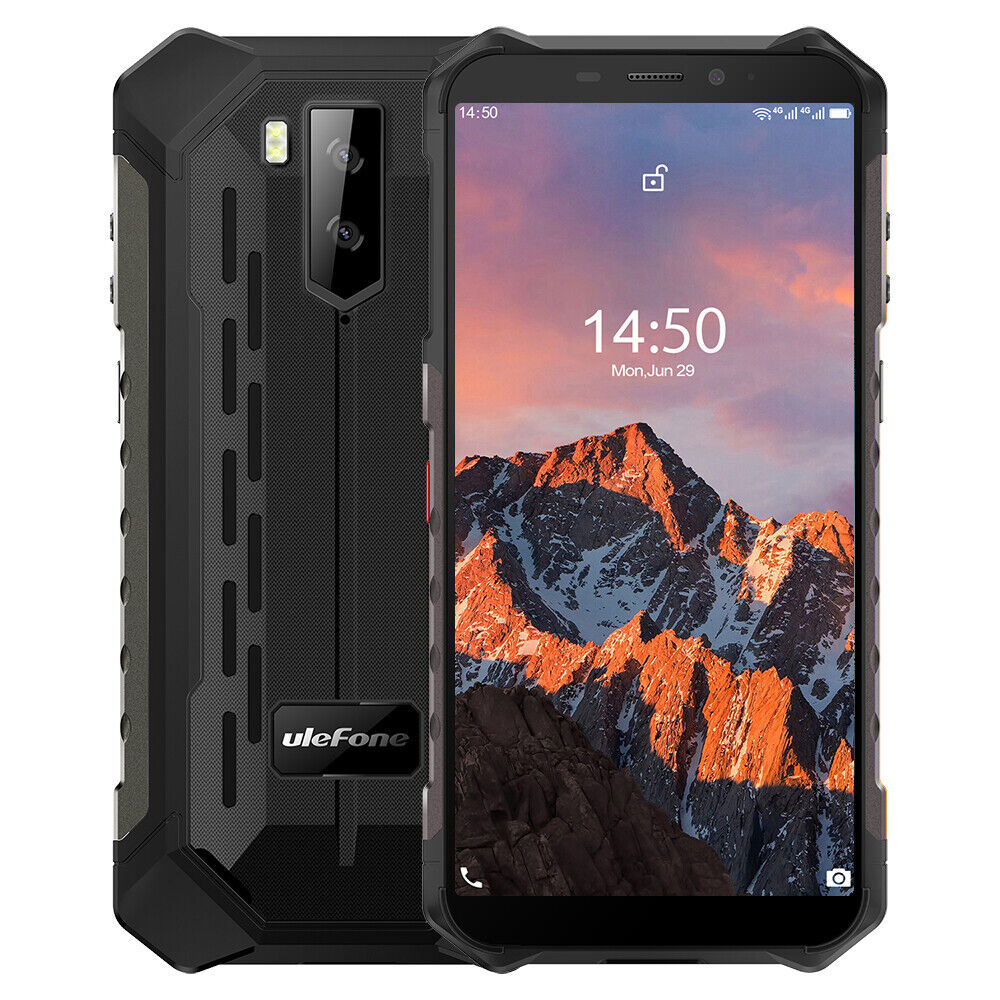 Rugged Smartphone OctaCore Android10 64GB Waterproof Cell Phone Unlocked Face ID