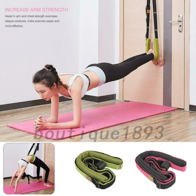 Back Bend Assist Trainer Yoga Fitness Straps Flexibility Stretching Band Dance