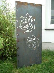 Das Bild Wird Geladen Edelrost Garten Sichtschutz Wand Corten Stahl  Sichtschutzwand Metall