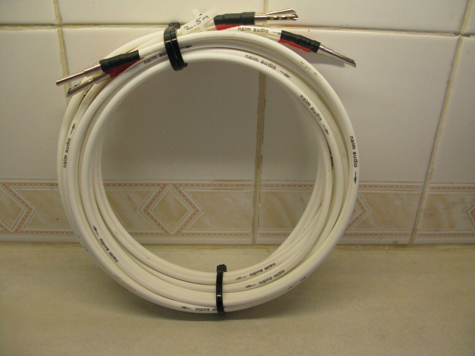 Naim NAC A5 Speaker Cable, 2.5m Pair, Banana Plug - Banana Plug