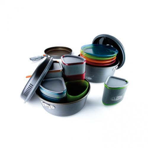 GSI Alu-Cookset 'Pinnacle Camper' 4 persons [Meccanico]