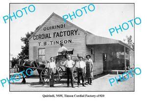 OLD-LARGE-PHOTO-QUIRINDI-NSW-TINSON-CORDIAL-FACTORY-c1920