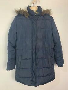 Le-ragazze-Marks-amp-Spencer-Navy-Blue-Inverno-Casual-Scuola-Pioggia-Cappotto-Ragazzi-Eta-11-12-anni