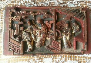 Hand-Carved-nativity-vintage-antique-1-piece-Wall-hanging-Painted-Folk-Art-Prim