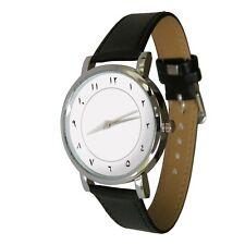 Arabic Number design watch. Genuine Leather Strap. clean classy design