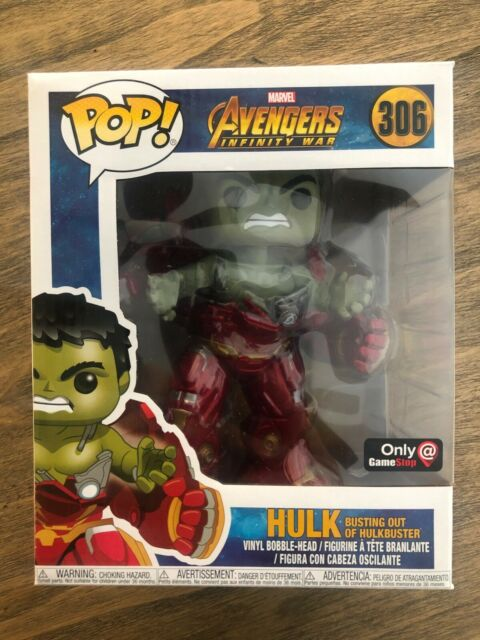Marvel Avengers Infinity War Hulk #306 Busting out of Hulkbuster Funko Pop