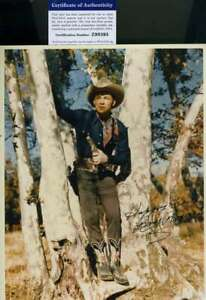 Roy Rogers PSA DNA Coa Signed 8x10 Photo Autograph