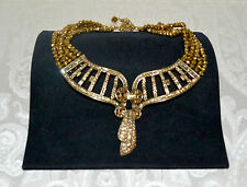 New $415 Heidi Daus *Lined In Luxury* Swarovski Crystal Beaded Necklace/Goldtone