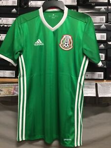 Details about Adidas Mexico Home Jersey Green And White Size Small Only