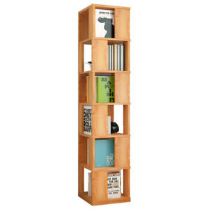 new product 22ec5 843eb Details about 3/4/5/6-Layer Rotating Swivel Spinning Bookshelf Bookcase  Display Storage