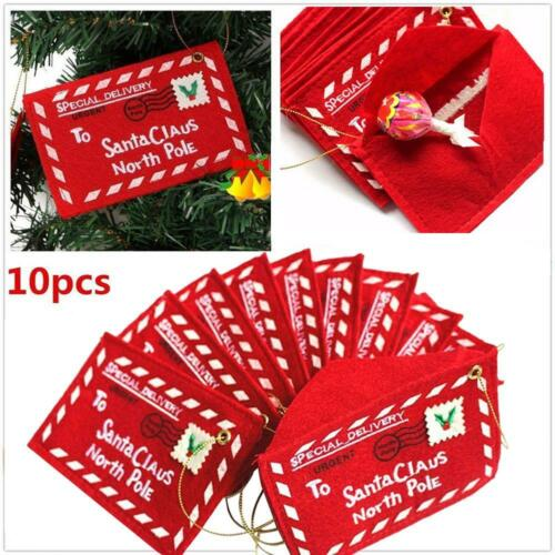 2/10 Pcs Merry Christmas Red Envelope Tree Hanging Decor Candy Sweet Gift Storage by Does Not Apply