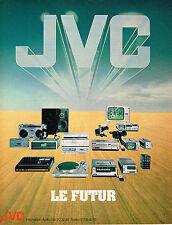 PUBLICITE ADVERTISING 104  1980  JVC  hi-fi  LE FUTUR