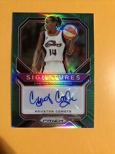 2021 Prizm WNBA  Green Cynthia Cooper-Dyke Signatures Card Auto Autograph