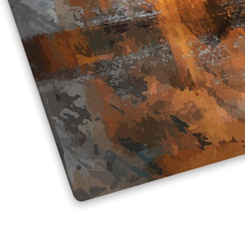 Orange Brown Black Grey Glass Chopping Board Kitchen Worktop Saver Protector