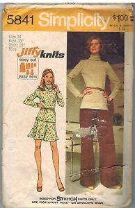 5841-Vintage-Simplicity-Sewing-Pattern-Misses-Jiffy-Knit-Top-Short-Skirt-Pants