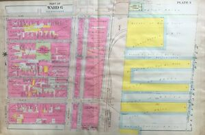 ORIGINAL 1908 PHILADELPHIA, PA., NEW STREET PUBLIC SCHOOL (WARD 6), ATLAS MAP