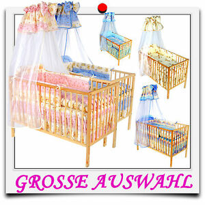 baby 5tlg bettset bettw sche himmelset nestchen himmelset f r kinderbett neu ebay. Black Bedroom Furniture Sets. Home Design Ideas