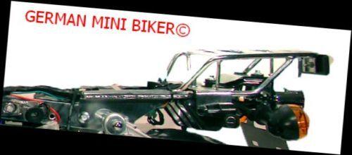Gepäckträger hinten in Chrom passend Honda Monkey Gorilla Skyteam Skymini LeMans