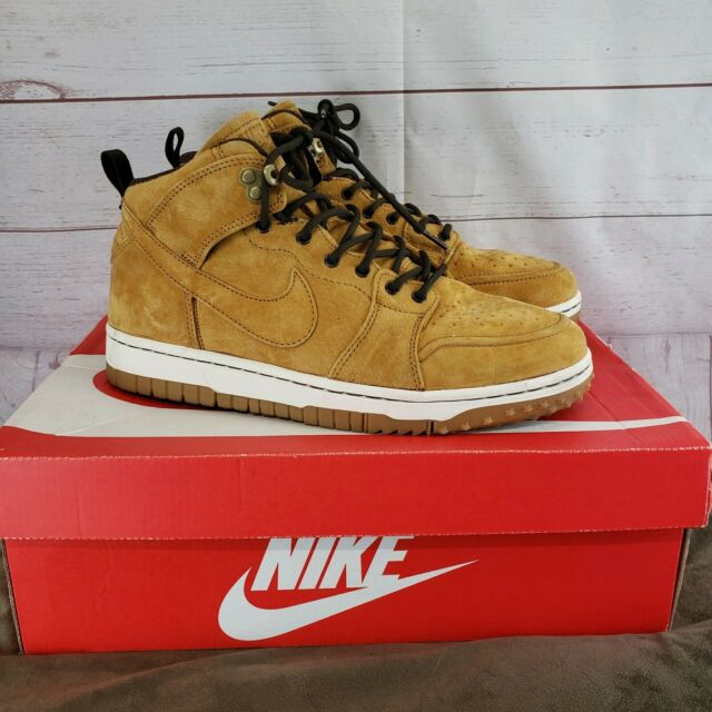 Nike Dunk Comfort Wheat Brown Sneakerboot 805995 700 Men's Shoes Size 9