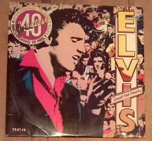 Elvis-Presley-Elvis-039-s-40-Greatest-2-Pink-Vinyl-LP-Comp-33rpm-1978-RCA-PL42691