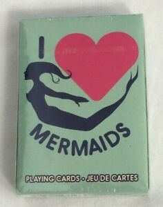 I-Love-Mermaids-Playing-Cards-52-Card-Deck-Mythical-World-of-Mermaids-New-Sealed