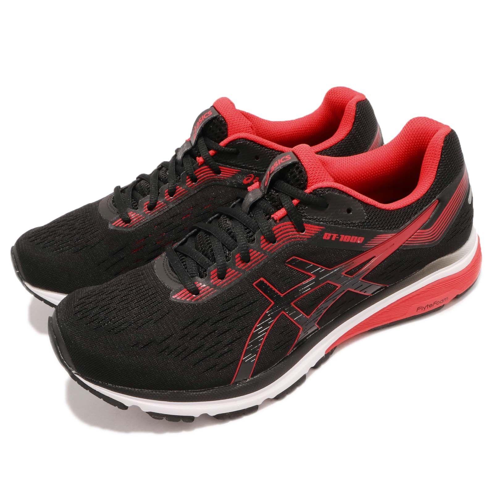 Asics GT-1000 7 Negro Rojo blancoo Hombres Correr Entrenamiento Calzado Tenis 1011A042-002